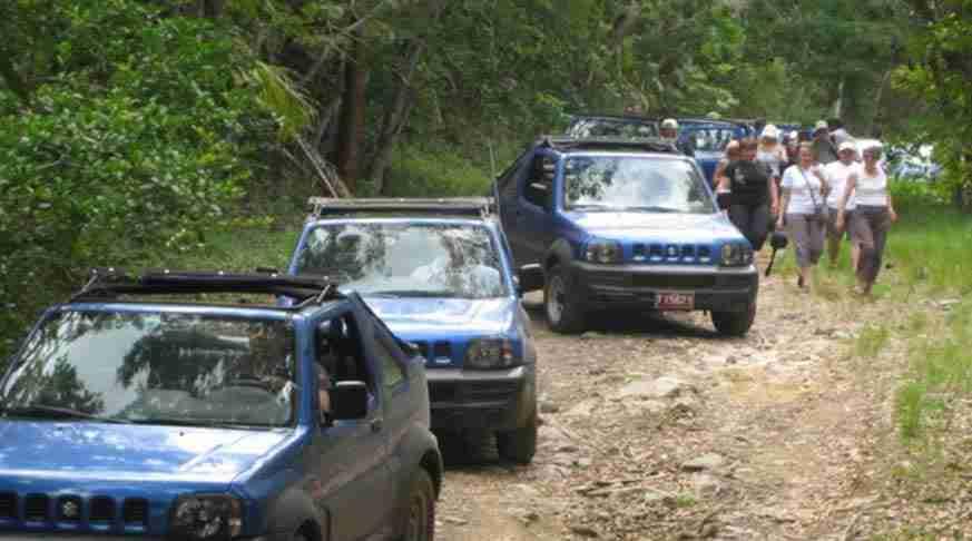 cuba adventure tours. jeep safari guanayara. trinidad adventure tour. excursión de aventura a trinidad